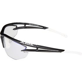 Alpina Eye-5 HR VLM+ Glasses black matt-white-black/blue mirror